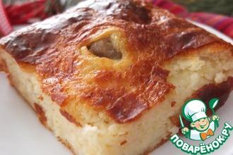 Сырный пирог с мясными шариками