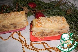 "Торт ""Наполеон"" с картофелем и грибами"