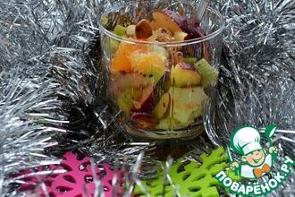 Новогодний фруктовый салат