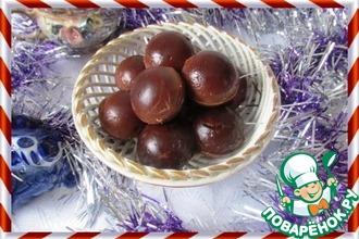 Шоколадно-зефирные мячики