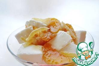 Имбирные мандарины с мороженым
