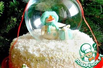 """Новогодний торт """"И падал снег..."""""""