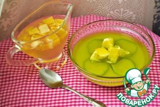 Йогуртово-огуречное желе с лимонным соусом