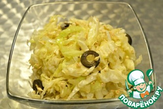 Салат из пекинской капусты и пророщенной гречки