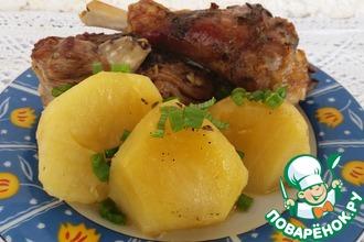 Жаркое с мясом козленка и картофелем