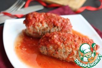 Мясные рулетики в томатном соке