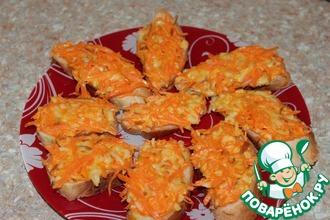 Бутерброд с морковью и колбасным сыром