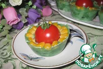 """Сырная """"корзинка"""" с тунцом и помидорами"""