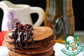 Кофейные панкейки с шоколадно-мятным соусом