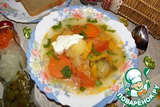 """Овощной слоеный суп """"Очень интересный"""""""
