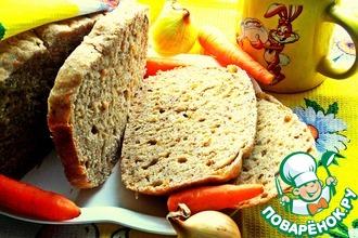 Хлеб с жареным луком и морковью