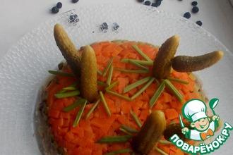 Картофельный салат с копченой сайрой