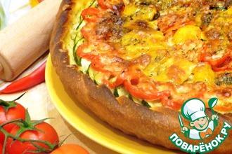 """Пицца """"Солнечная"""" с овощами и грибами"""