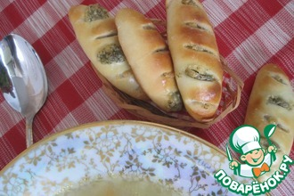 Булочки с сыром, чесноком и зеленью