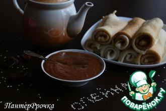 Сладкий шоколадно-кунжутный соус