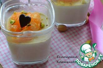 Фисташковая панна-котта с мандаринами