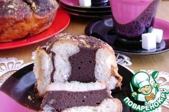 Пирог с шоколадной прослойкой и штрейзелем