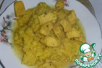 Рис с курицей под коньячным соусом