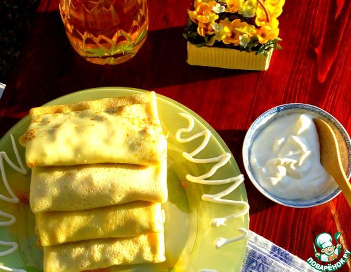 Сырный соус с хреном к блинчикам