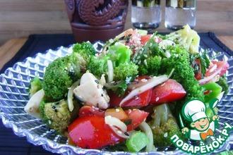 Салат из брокколи с овощами