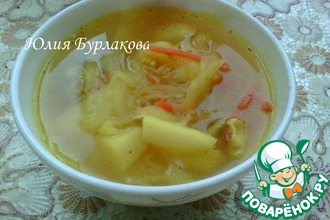 Суп с капустой и пшеном