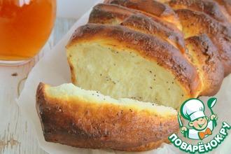"""Хлеб """"Гармошка"""" со сливочным сыром и маком"""