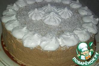 Шоколадно-кокосовый торт-мусс