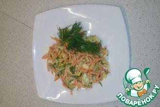 Крабовый салат с корейской морковью