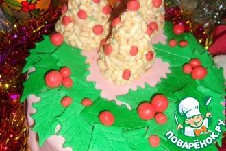 "Торт ""Рождественский венок"""