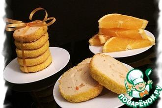 Апельсиновое печенье со сливочным сыром
