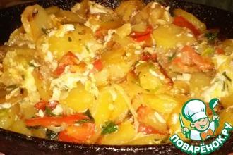 Жареный картофель по-азербайджански
