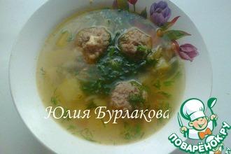 Суп картофельный с гречневыми фрикадельками