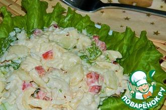 Рисовый салат с курицей и грушей