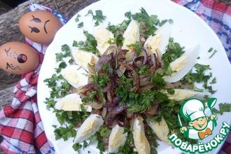 Гречневая каша с вареными яйцами