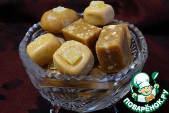 Орехово-имбирные конфеты из красной чечевицы