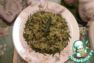 Рис с зеленым соусом