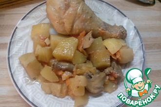 Картофель с курицей по-рождественски