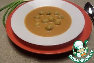 Овсяно-овощной суп-пюре с сырными шариками