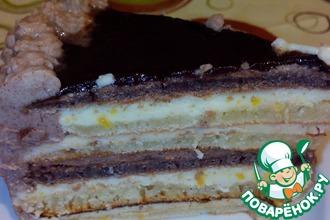 """Торт """"Шоколад и кофе с лимоном"""""""