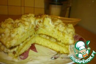 Простой банановый торт