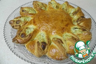 Пирог сырно-шпинатный
