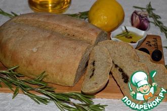 Хлеб с пастой из оливок