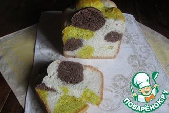 Цветной хлеб с куркумой и какао