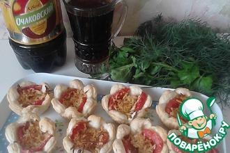 Тарталетки с томатом и сыром