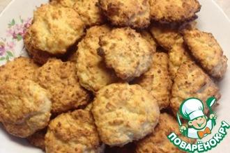 Творожное печенье с яблоком и кокосом