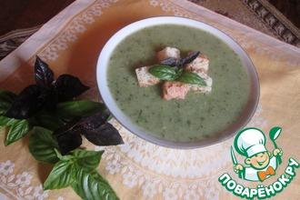 Суп из цуккини с базиликом