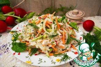 Пикантный овощной салат
