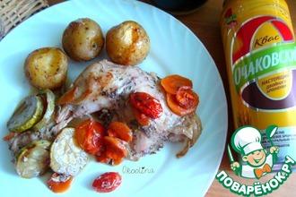 Курица, маринованная в квасе