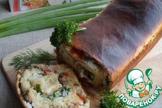Пирог-рулет с рисом и тунцом