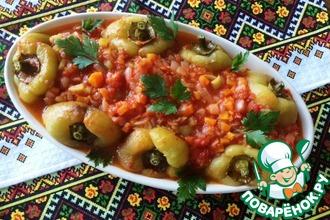 Печеный болгарский перец с томатной подливой